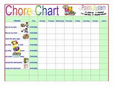 Kids Chore Chart Template Free 6 Chore Chart Template Printable For Kids Excel Word