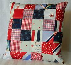 b creative me patchwork pillow in pink and blue