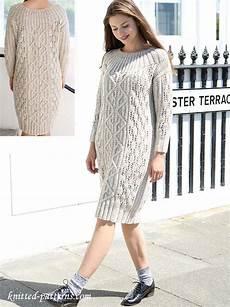 cable dress knitting pattern free