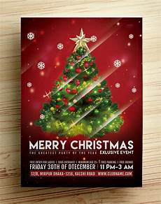 Free Christmas Flyer Psd 10 Best Free Christmas Party Flyer Poster Design