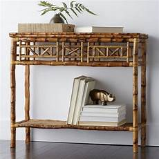 Bamboo Sofa Table 3d Image by Rattan Console Side Table The Company Store Rattan