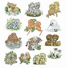 embroidery animals baby animals set 2 machine embroidery by bestdesigns13