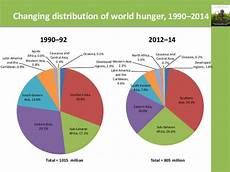 Pie Chart Of World Hunger One In Every Nine Persons In The World Goes Hungry Un