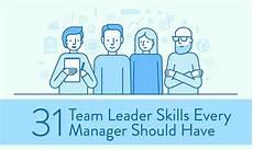 Good Team Leader 31 Team Leader Skills Every Manager Should Have When I Work