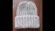 crochet ribbed hat