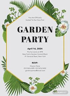 Free Party Templates For Word Free Garden Party Invitation Template Download 344