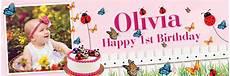 Make Happy Birthday Banner Online Free Happy 1st Birthday Butterfly Amp Ladybird Banner Theme