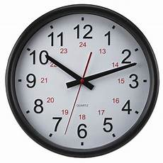 24 Hour Clock Time Timekeeper 14 Quot Round 24 Hour Wall Clock Standard Military