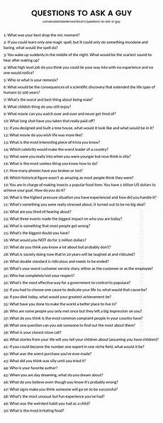 Truths To Ask 200 Questions To Ask A Guy The Only List You Ll Need