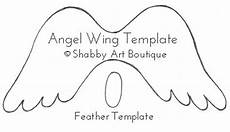 Angel Wings Template Angel Wing Christmas Ornament Shabby Art Boutique
