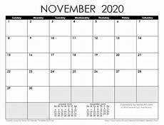 November 2020 Calendar Printable Free 2020 Calendar Templates And Images