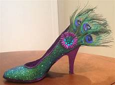 Designer Shoes With Feathers Confessions Of A Glitter Addict Peacock Feather Shoe