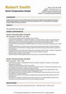 Compensation Analyst Resumes Senior Compensation Analyst Resume Samples Qwikresume