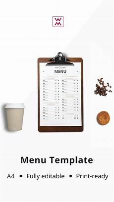 Every Trendy Restaurant Menu Menu Template шаблон меню Menu Template Restaurant