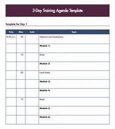 Training Agenda Template Word Free 7 Training Agenda Samples In Pdf Ms Word