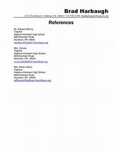 Examples Of References On Resume Resume References Sample Hatboro 0411 Docx6