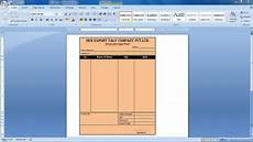 Medicine Bill Format In Word How To Create Bill Design In Ms Word Cash Bill Design