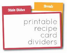 Recipe Card 3x5 Template by Printable Recipe Card Dividers Allfreepapercrafts