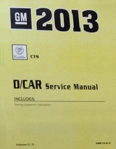 2013 Cadillac Cts Cts V Factory Service Manual 5 Volume Set
