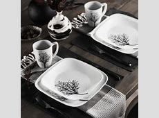 Corelle ® Square? 16 Piece Timber Shadows Dinnerware Set