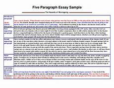 Five Paragraph Essay Example Five Paragraph Essay Sample