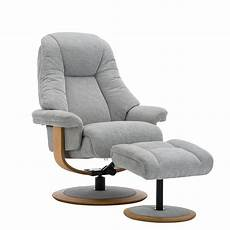 jersey fabric swivel recliner chair and footstool swivel