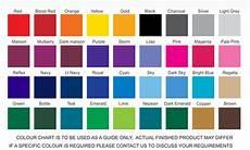 Scrub Color Chart Colour Chart