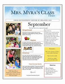 Sample Newsletters For Parents Centers And Circle Time The Preschool Newsletter