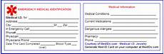 Medical Alert Cards Templates Free Printable Medical Id Cards With Images Medical