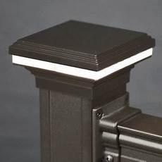2x2 Post Cap Light Mini Saturn Cap Light For 2x2 3x3 Posts Bronze