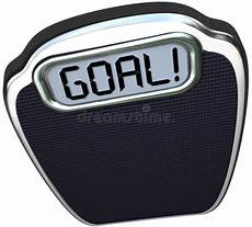 Weight Loss Recorder Goal Word Scale Weight Loss Target Lightweight Stock