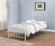 emily 90cm 3ft single ivory metal bed frame bedstead