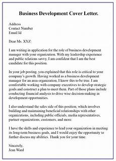 Best Business Letters How To Write A Business Development Cover Letter With