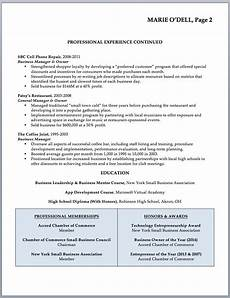 Perfect Business Resume Resume Sample Former Business Owner Will Your Resume