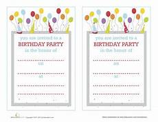 Create Birthday Party Invitations Online Free Make Your Own Birthday Invitations Education Com