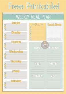 Weekly Dinner Schedule Free Printable Weekly Meal Planner Calendar