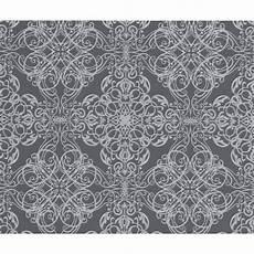 Flower Wallpaper Metallic by P S International Textured Metallic Damask Flower