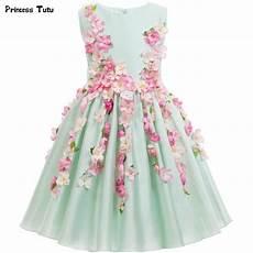 beautiful light green flower princess dress