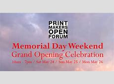 Printmakers Open Forum LLC   for PrintCamp2020 Application click here Saturday May 30   Sunday
