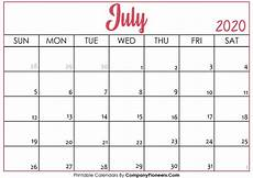July 2020 Calendar Printable July 2020 Calendar Printable Printable 2020 Calendars