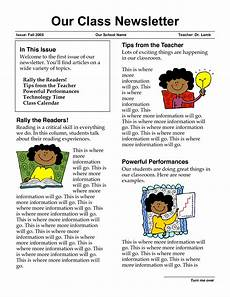 Sample Newsletters For Parents Newsletter Templates For Teachers Newsletter Templates