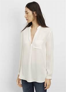 white silk sleeve blouse vince silk sleeve popover blouse in lyst
