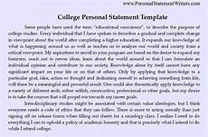 Personal Statement Essay Example For College Write The Best Personal Statement