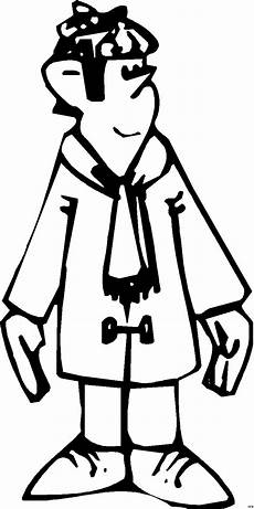 junge in winterkleidung ausmalbild malvorlage comics