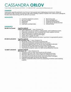 Receptionist Job Resumes Best Receptionist Resume Example Livecareer