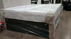 divan bed with black chenille base and quality