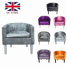 crushed velvet tub chair armchair home cafe shop home