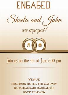 Weds Card Format Free Ring Themed Engagement Invitation Card With Wordin
