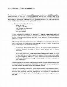 Sample Investor Agreement 13 Small Business Investment Agreement Examples In Pdf