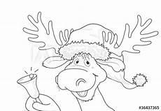 Malvorlagen Weihnachtsmann Mit Rentier Quot Malvorlage Quot Rentier Als Weihnachtsmann Quot Quot Stock Image And